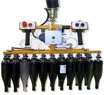 Manipulateur pneumatique / à prises multiples / de positionnement / pour bouteilles en verre