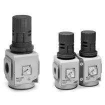 Régulateur de pression pour air comprimé / mono-étagé / à membrane / compact