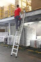 Échelle en aluminium / simple / pour entrepôts / de sécurité