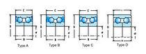 Roulement à billes / à deux rangées / à contact oblique