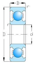 Roulement à billes / rigide / miniature