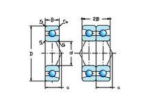 Roulement à billes / à contact oblique / en acier