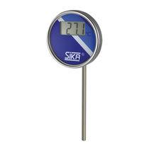 Thermomètre bimétallique / numérique / à insertion / industriel