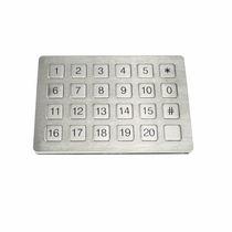 Clavier numérique 24 touches / encastrable / en élastomère / en acier inoxydable