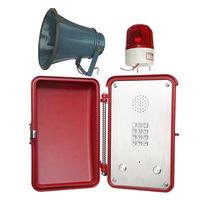 Téléphone à sécurité intrinsèque / résistant aux intempéries / antivandalisme / IP65