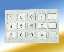 Clavier numérique 15-touches / encastrable / en élastomère / en acier inoxydable