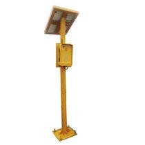 Support pour téléphone d'urgence / avec panneau photovoltaïque / en acier / en métal