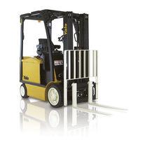 Chariot élévateur électrique / à conducteur porté assis / pour usage extérieur / pour l'industrie agroalimentaire