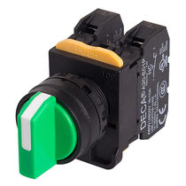 Interrupteur à bouton sélecteur / multipolaire / électromécanique