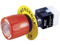 Bouton poussoir coup de poing / unipolaire / d'arrêt d'urgence / électromécanique