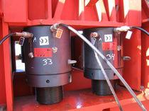 Vérin hydraulique / à double effet / compact / fileté