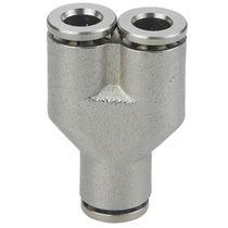 Raccord push-in / en Y / pneumatique / en laiton