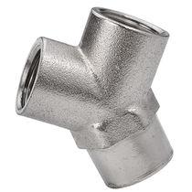 Raccord push-to-lock / en Y / pneumatique / en laiton nickelé