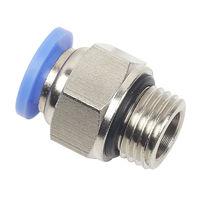 Raccord push-in / droit / pneumatique / avec joint torique