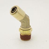 Raccord push-in / coudé à 45° / pneumatique / en laiton