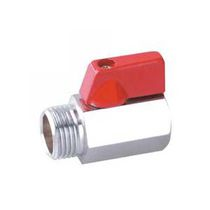 Vanne à boisseau sphérique / pneumatique / pour gaz / miniature