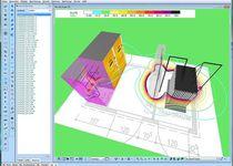 Logiciel de simulation de champ électromagnétique / 3D / 2D