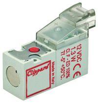 Distributeur pneumatique actionné par solénoïde / 2/2 voies / normalement fermé