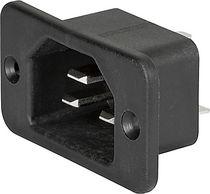 Connecteur d'alimentation électrique / DIN / carré / à vis
