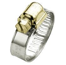 Collier de serrage en acier zingué / à vis / à bande ajourée