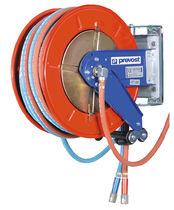 Enrouleur de tuyau / à rappel automatique / ouvert / sur étrier