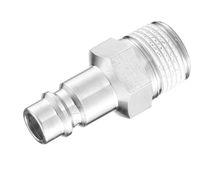 Adaptateur hydraulique / fileté / mâle-cannelé / en acier