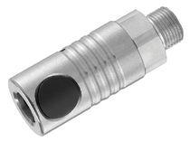 Raccord rapide / droit / pneumatique / en acier