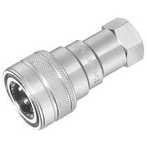 Raccord push-to-lock / droit / hydraulique / en acier zingué