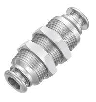 Raccord push-in / droit / hydraulique / en laiton nickelé