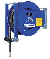 Enrouleur de tuyau / à rappel automatique / sur étrier / ouvert