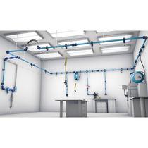 Système de tuyau en aluminium / pour air comprimé / modulaire