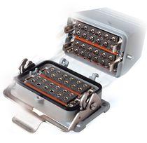 Connecteur hybride / fibre optique / rectangulaire / à verrouillage