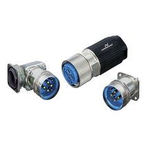 Connecteur d'alimentation électrique / DIN / circulaire / à sertir
