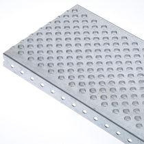 Caillebotis en métal / tôle / pour zone humide / antidérapant