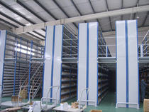 Mezzanine industrielle avec système de rangement