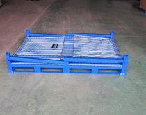 Caisse-palette en acier / grillagée / de stockage / pliable