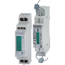 Compteur d'énergie électrique monophasé / sur rail DIN / avec afficheur LCD / RS-485