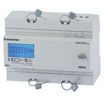 Compteur d'énergie électrique triphasé / sur rail DIN / avec afficheur LCD / RS-485