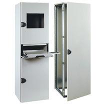 Armoire électrique / sur pied / à portes battantes / en acier inoxydable