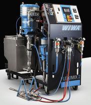 Unité de pulvérisation de peinture bi-composant / pneumatique
