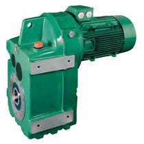 Moto-réducteur électrique monophasé / à arbres parallèles / à engrenage hélicoïdal / compact