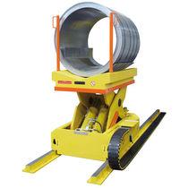 Chariot de chargement / en métal / porte-bobine / sur rail