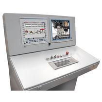 Terminal opérateur de contrôle / à écran tactile / avec clavier / sur pied