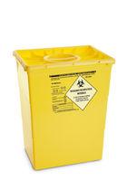 Poubelle en plastique / pour déchets médicaux / avec couvercle