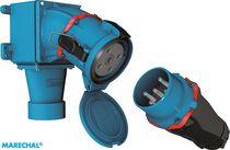 Prise électrique industrielle / murale / avec boîtier étanche / résistante aux chocs