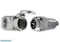 Connecteur haute température / d'alimentation électrique / en métal / ultra robuste