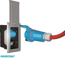Prise électrique à éjection / encastrée / avec boîtier étanche / IP66