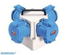 Coffret électrique pour distribution électrique / équipé / portable / en polyester