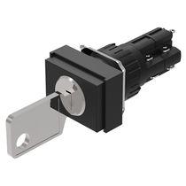 Commutateur à clé / multipolaire / à action instantanée / électromécanique