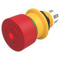 Interrupteur à tête champignon / 2 pôles / compact / d'arrêt d'urgence